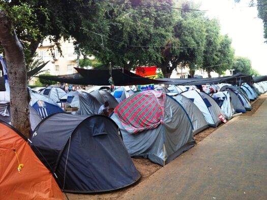 מחאת האוהלים בשדרות רוטשילד